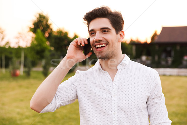 Afbeelding kaukasisch gelukkig man witte Stockfoto © deandrobot