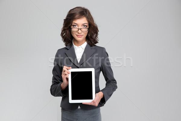 Mulher tela mulher jovem Foto stock © deandrobot