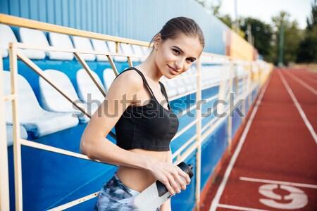 小さな スポーツマン ボトル 水 ストックフォト © deandrobot