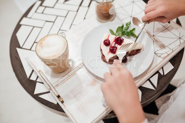 Сток-фото: Top · мнение · изображение · еды · торт