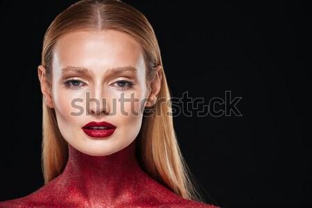 Portré nő testművészet közelkép fotó nők Stock fotó © deandrobot