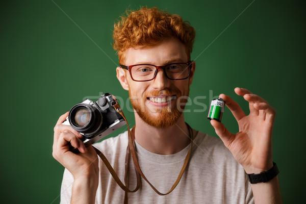 Shot jonge bebaarde Stockfoto © deandrobot