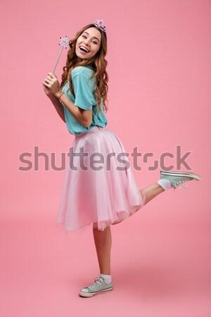 Stockfoto: Portret · mooie · meisje · jurk