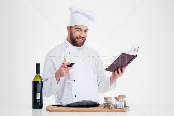 男性 シェフ 調理 レシピ 図書 ストックフォト © deandrobot
