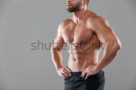 画像 ハンサム 筋肉の 男性 ボディ 下着 ストックフォト © deandrobot