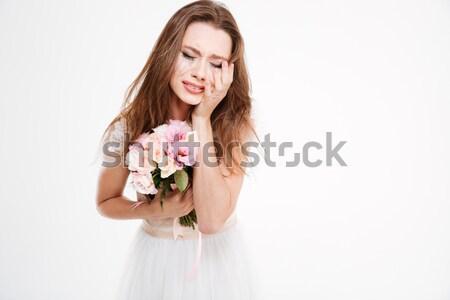 Close up upset bride Stock photo © deandrobot