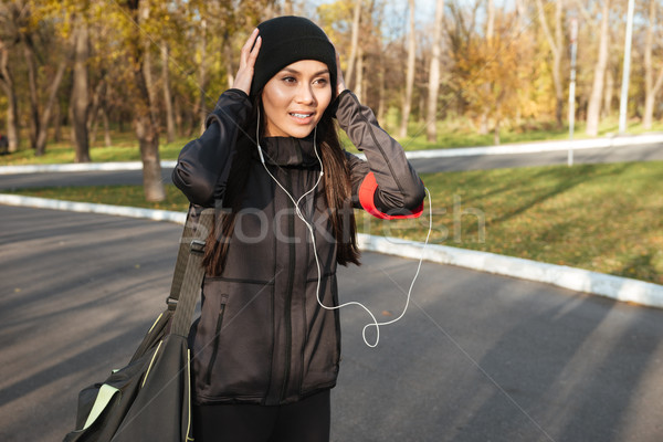 молодые Фитнес-женщины одежды осень Сток-фото © deandrobot