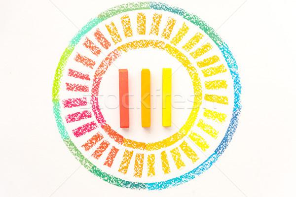 Topo ver círculo colorido pastel Foto stock © deandrobot