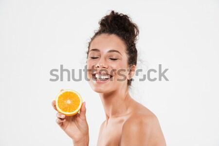 美 肖像 幸せ 裸 女性 ストックフォト © deandrobot