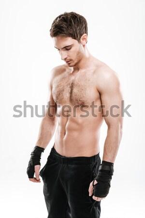 Rugpijn letsel geschikt volwassen man naakt Stockfoto © deandrobot