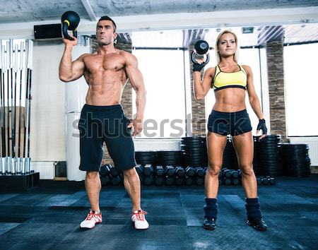 Stockfoto: Groep · man · vrouw · training · springen · touw