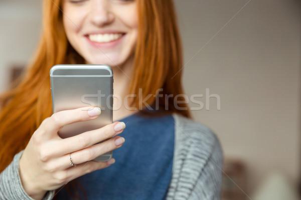 Mujer imagen sonriendo feliz Foto stock © deandrobot