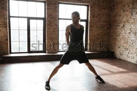 バレリーナ 立って バレエ クラス 背面図 肖像 ストックフォト © deandrobot
