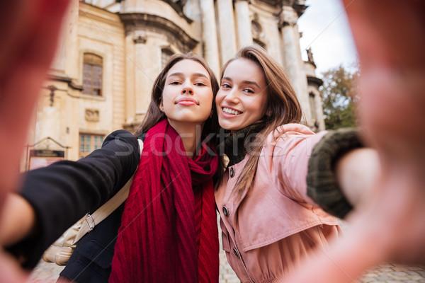 Ninas mueca calle ciudad moda modelo Foto stock © deandrobot