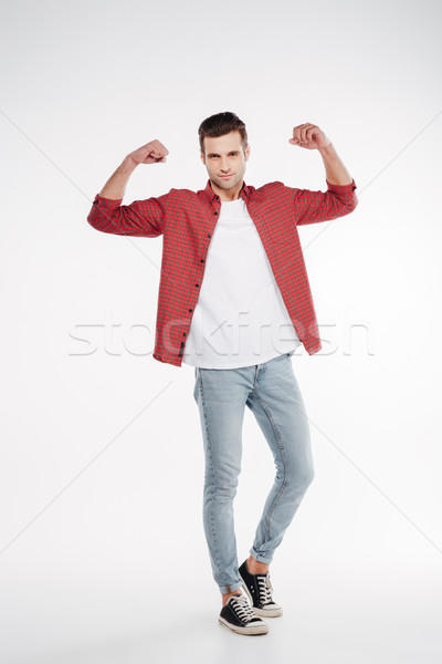 Vertical image cool homme biceps Photo stock © deandrobot