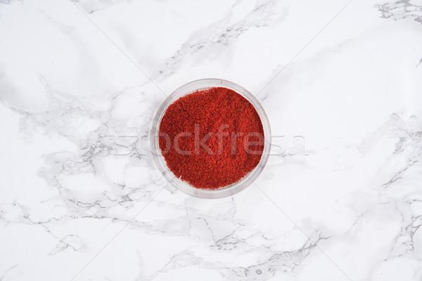 Top Rood peper poeder hoop Stockfoto © deandrobot