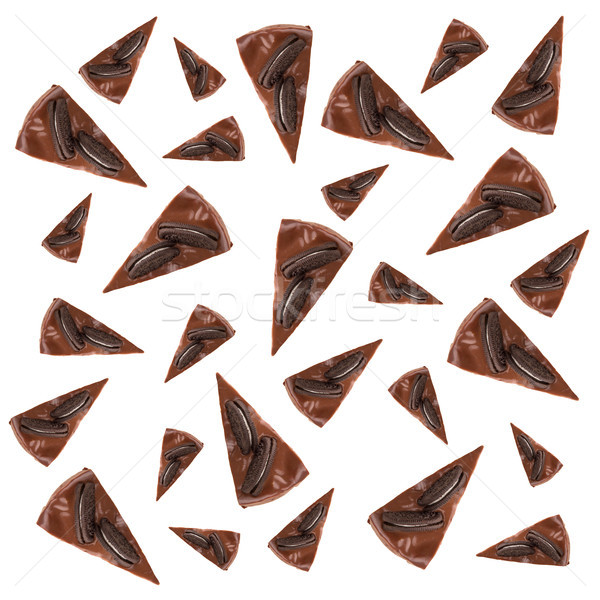 Pattern of chocolate pies Stock photo © deandrobot