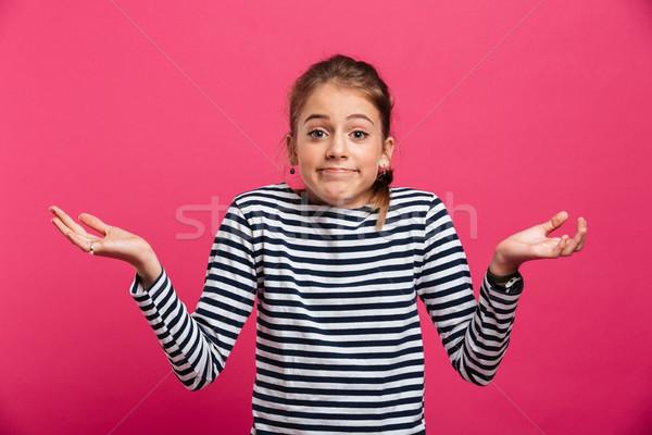 Confundirse pie aislado foto rosa Foto stock © deandrobot