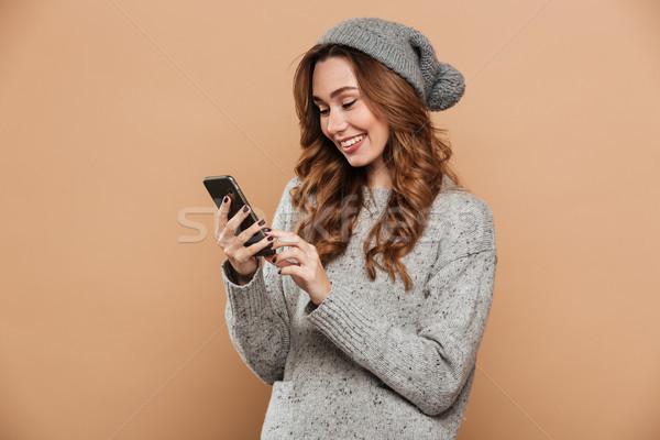 великолепный зима одежды Сток-фото © deandrobot