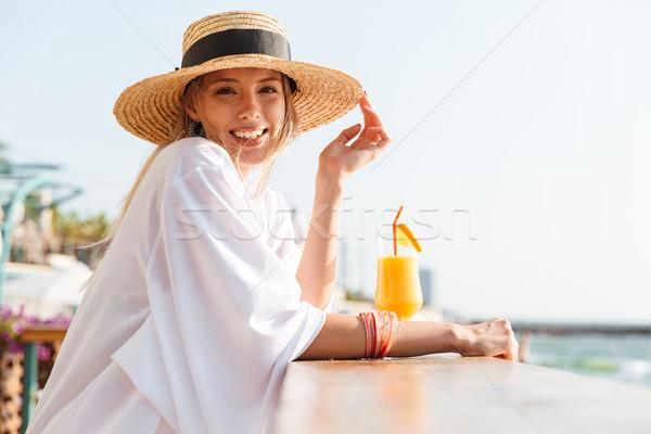 Junge Mädchen Sommer hat Badebekleidung ruhend sonnig Stock foto © deandrobot