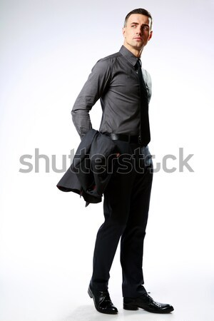 Portret biznesmen odizolowany biały człowiek wykonawczej Zdjęcia stock © deandrobot