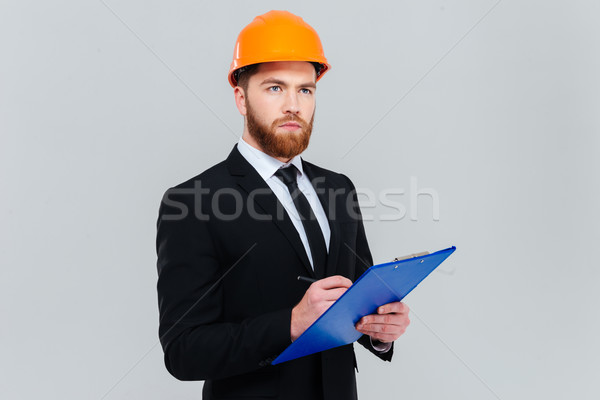 Engineer with clipboard Stock photo © deandrobot