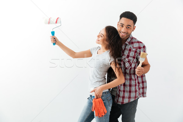 Shot of hugging couple Stock photo © deandrobot