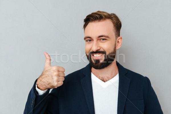 бородатый человека бизнеса одежды Сток-фото © deandrobot