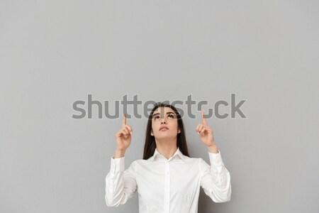 Görüntü Arapça kadın 20s başörtüsü gülen Stok fotoğraf © deandrobot