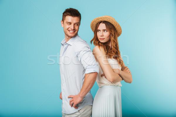 Uomo flirtare donna immagine giovani Foto d'archivio © deandrobot