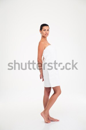 Full length portrait of a beautiful woman in towel  Stock photo © deandrobot