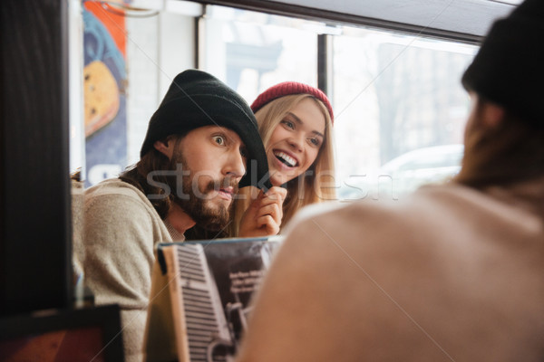 Stock photo: Couple near the mirror