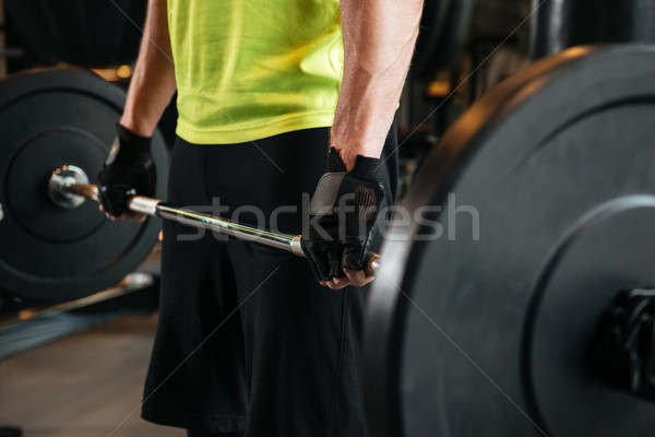 Image lourd barbell gymnase Photo stock © deandrobot