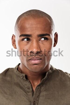 вертикальный изображение задумчивый человека Сток-фото © deandrobot