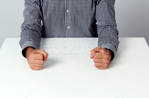 Imagem dois branco tabela negócio Foto stock © deandrobot