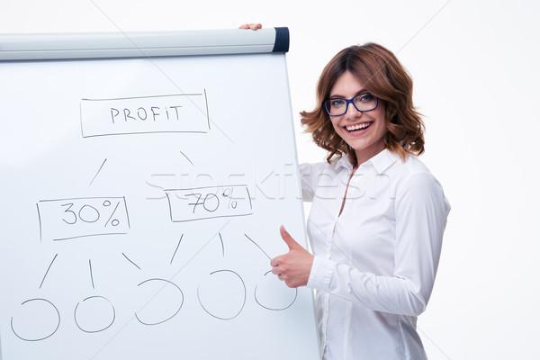 女性実業家 戦略 メモ帳 幸せ 眼鏡 ストックフォト © deandrobot