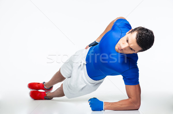 Fitness man working out isolated Stock photo © deandrobot