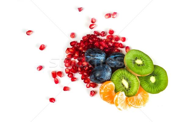 新鮮な ジューシー 果物 孤立した 白 ストックフォト © deandrobot