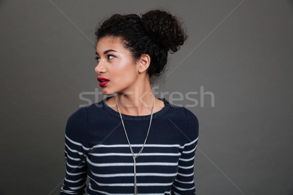 Portrait joli afro femme Photo stock © deandrobot