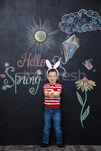 Stok fotoğraf: çocuk · tavşan · kulaklar