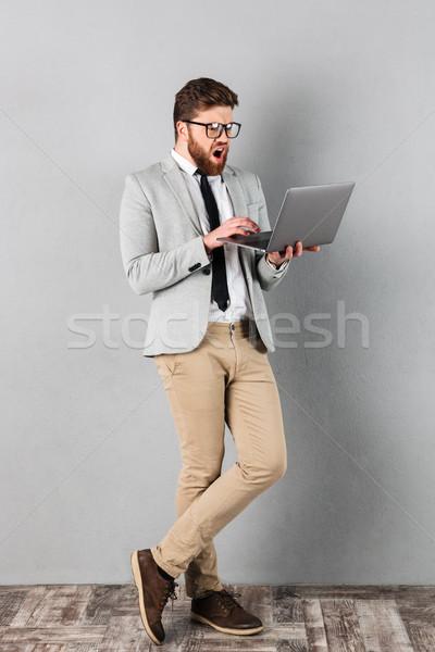 Сток-фото: портрет · бизнесмен · костюм · очки