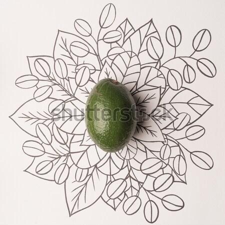 Wapno kwiatowy żywności charakter Zdjęcia stock © deandrobot