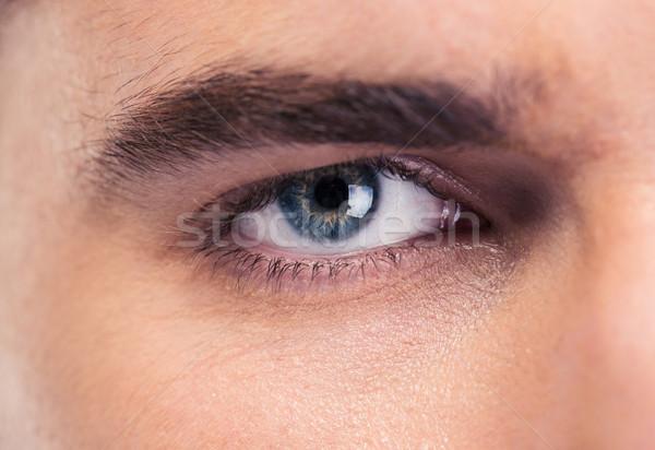 Masculino olhos retrato olho moda Foto stock © deandrobot