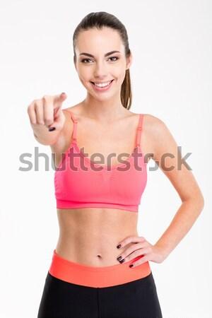 Joli positif souriant survêtement Photo stock © deandrobot