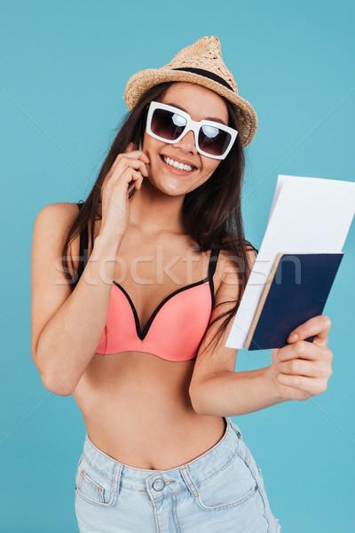 довольно молодые Lady паспорта говорить Сток-фото © deandrobot