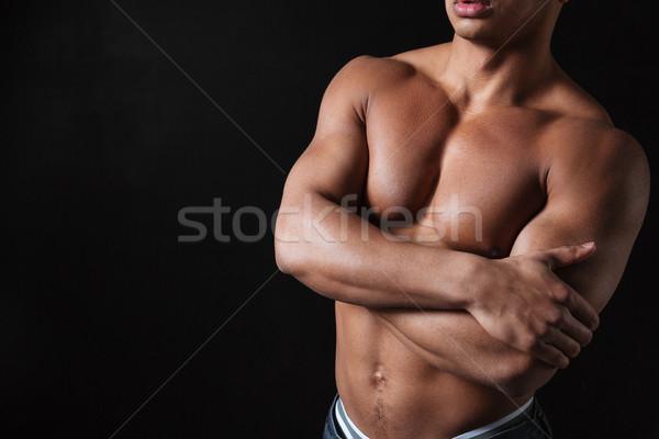 Сток-фото: фото · молодые · африканских · спортсмен · позируют · черный