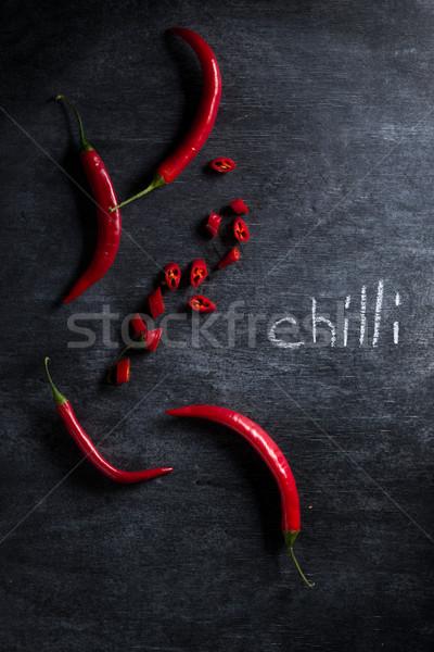 Imagem cortar pimenta pimenta escuro topo Foto stock © deandrobot