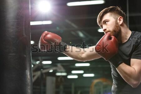 Bello giovani forte sport uomo boxer Foto d'archivio © deandrobot