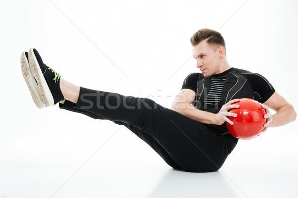Ritratto giovani sani atleta uomo addominale Foto d'archivio © deandrobot