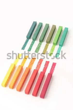 Közelkép kilátás fényes színes pasztell pigment Stock fotó © deandrobot